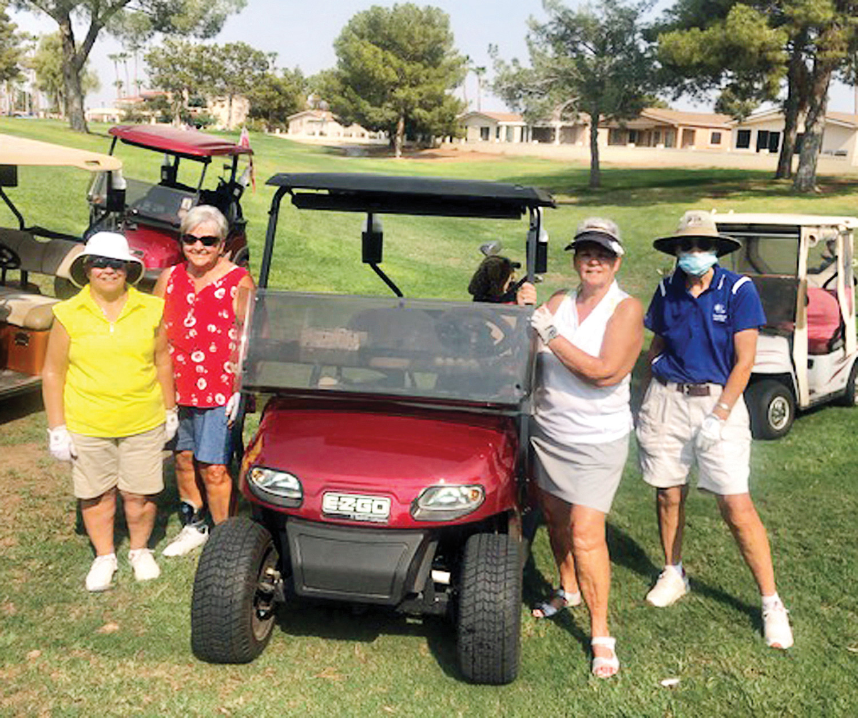 Trish Carrol, Glenda Jacobsma, Barb Wallace, and Pat Arnold