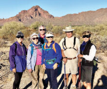 Pictured (left to right) are Carol Martin, Fran Stewart, Jim Anderson, Julie Anderson, Jack Phillips, and Jeanne Berte.