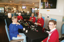 Pictured (left to right) are Marilyn Klooster, Judy Johnston, Nancy Ott, Bev Launer, Jody Elkey, and Char Donaldson.