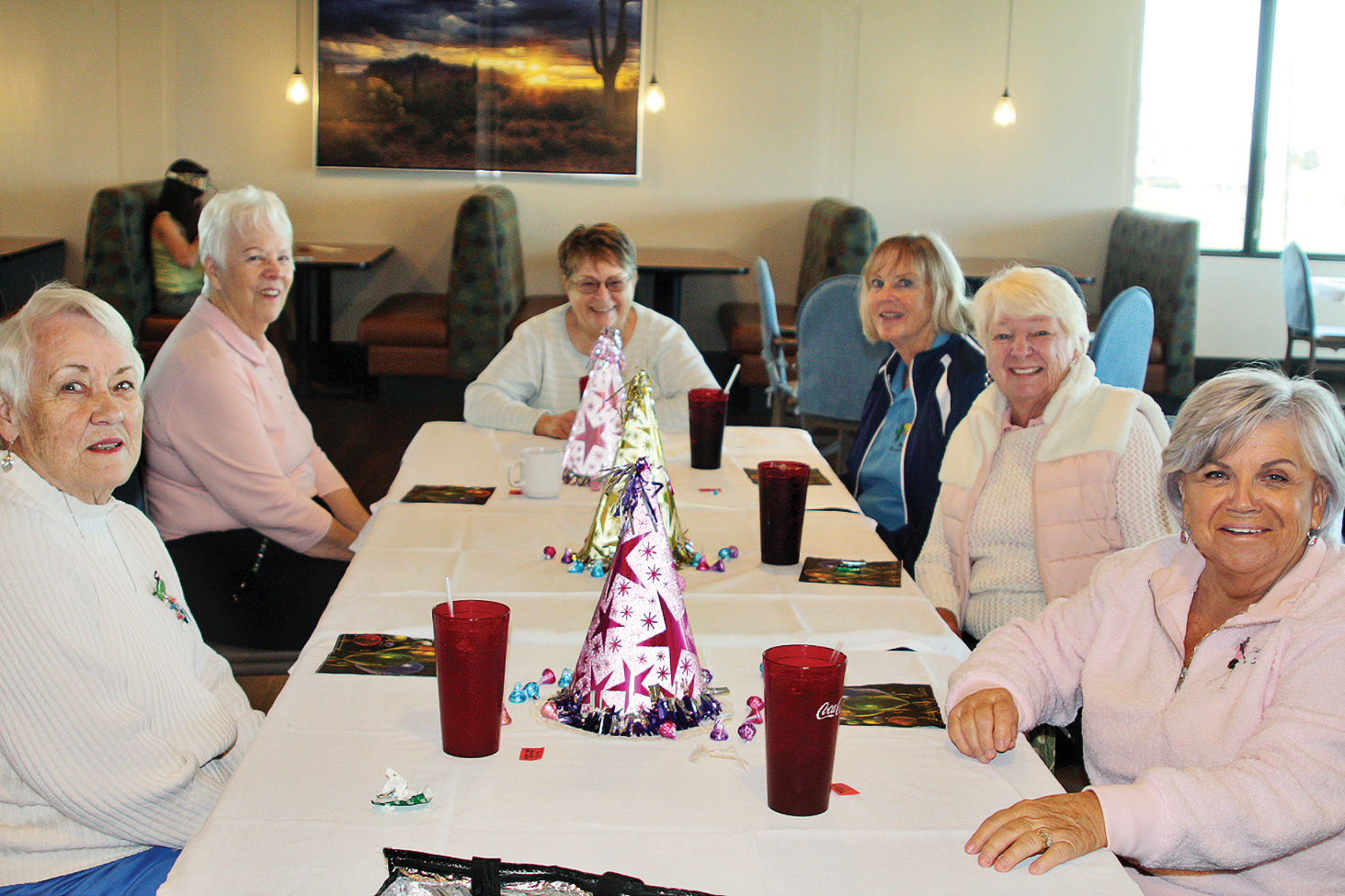 Pictured (left to right) are Barb Edwards, Judy Johnston, Betty Teal, Kitty Determan, Pam Tiffany, and Irene Schlenker.