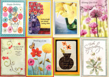 Say it with flowers from Crystal Cards.