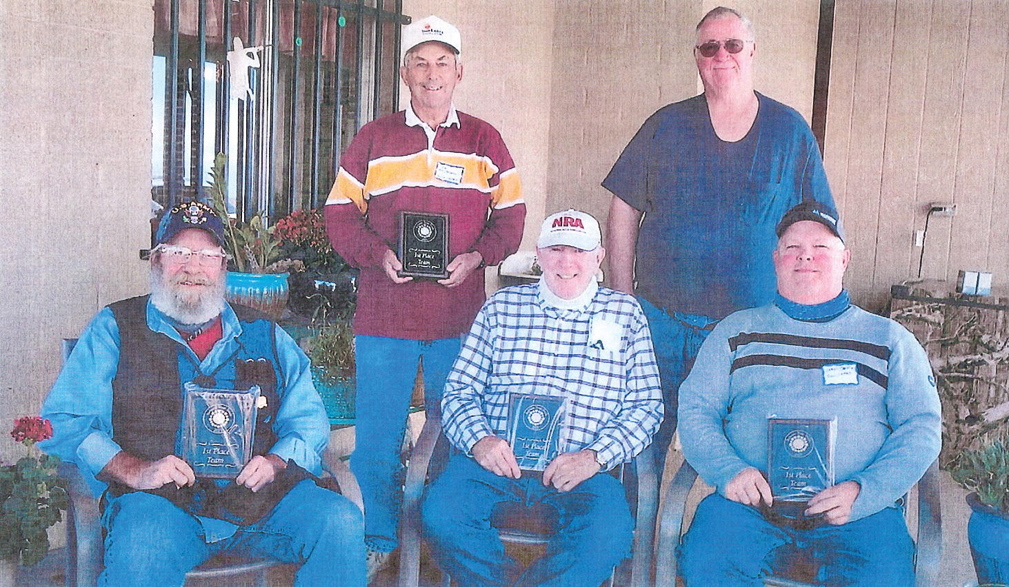 Sun Lakes team (left to right): Mac Mackerman, 69; Ted Tenbroeck, 73; Frank Nance, 68; Charles Chapman, 71; and Sean Jeffries, 65