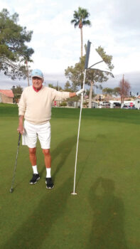 Benny Benson with his hole-in-one