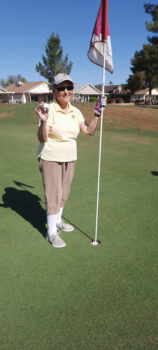 Marilyn Klooster with her hole-in-one